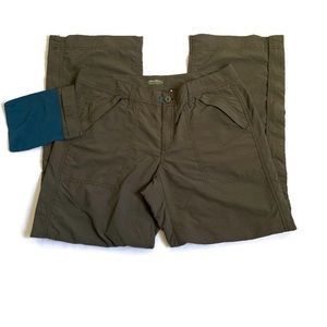 Eddie Bauer convertible packable nylon pants